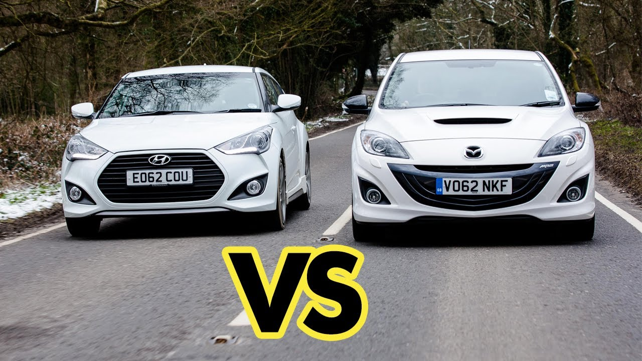 Car Battle Mazda3 Mps Vs Hyundai Veloster Turbo Youtube