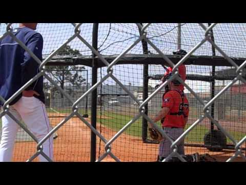 Astros Spring Training Minor League Live Batting Practice: Jonathan Singleton - Round Two