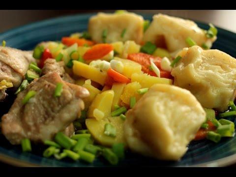 Штрудели с курицей и картошкой