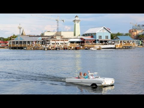 Amphicar Experience at The BOATHOUSE Disney Springs, Splash Into Lake, Cruise & Return - Downtown
