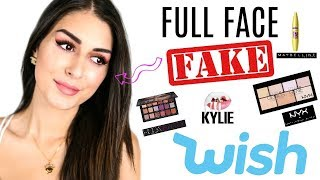 ich teste FAKE MAKE UP von WISH Live ! Plagiate besser als Original?
