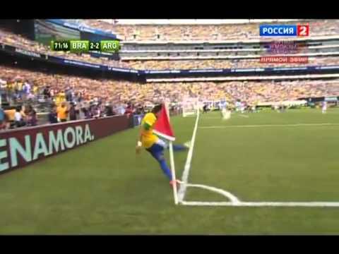 NEW Messi Hattrick - Brazil vs Argentina 3-4 All Goals, June 9th, 2012