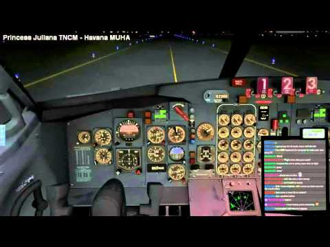[26h Stream Highlights] 727-200 Night Landing in Havana MUHA | X-PLANE 10 | MatiaB77