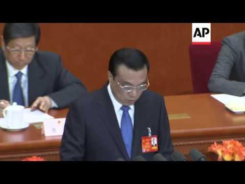 Premier vows comprehensive reforms; sets GDP target at 7.5% at NPC
