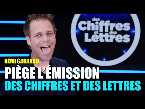 REMI GAILLARD PIEGE  DES CHIFFRES ET DES LETTRES