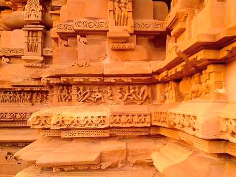 Khajuraho Group of Monuments sculptures Madhya Pradesh India