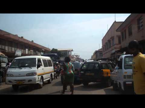 Drive through Accra Market