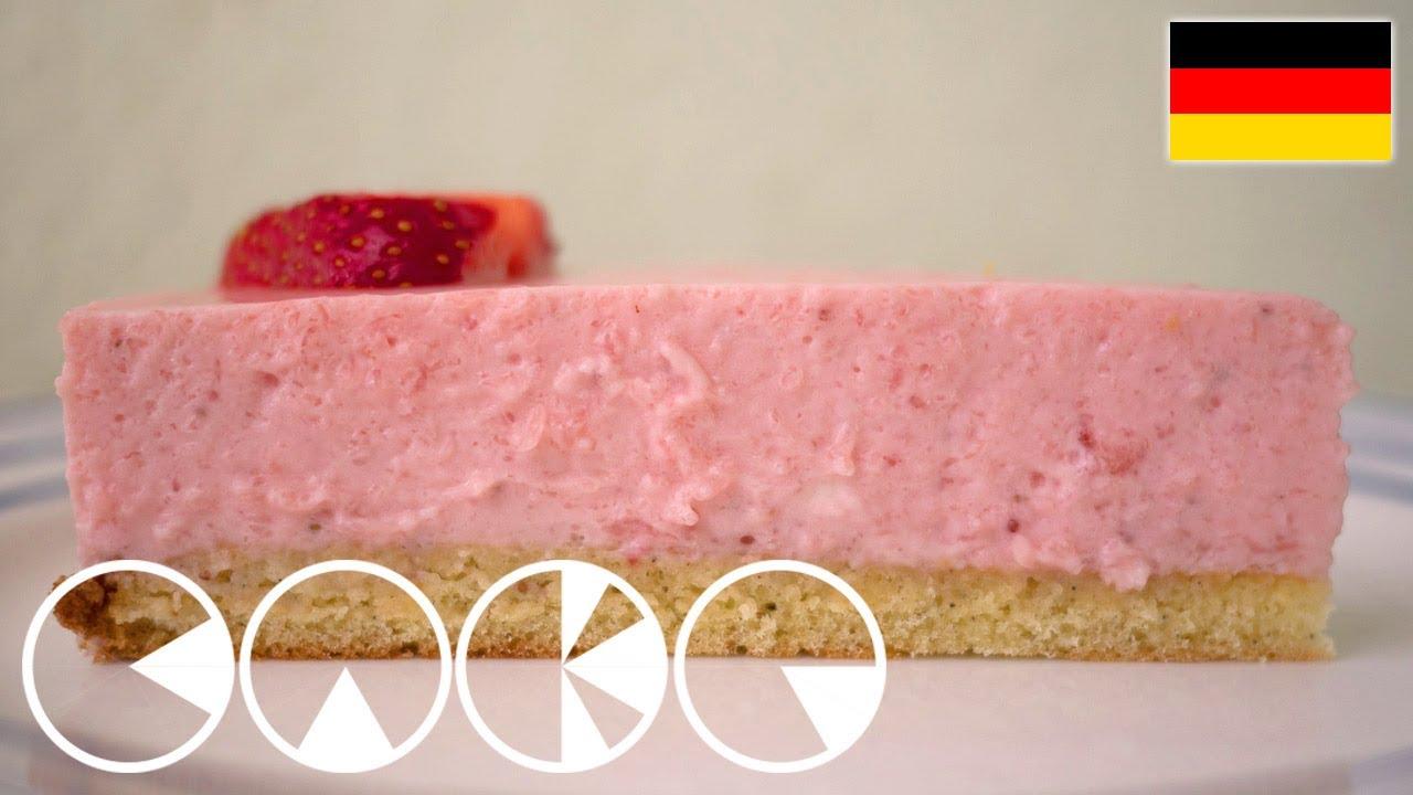 leichte erdbeertorte mit joghurt rezept youtube. Black Bedroom Furniture Sets. Home Design Ideas