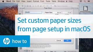 Creating Custom Paper Sizes for Printing from the Page Setup Menu in Mac OS X