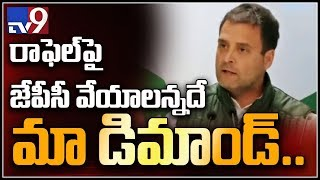 We damanded JPC on Rafale deal - Rahul Gandhi  - netivaarthalu.com