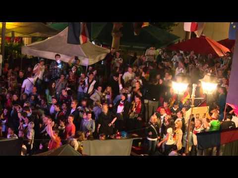 WM 2014: Weltmeister-Party (Kamera oben) # Public-Viewing Haslach im Kinzigtal