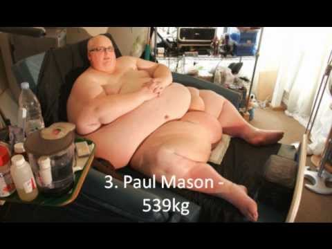 Top 10 Worlds Fattest Man  10 Fattest People In The World