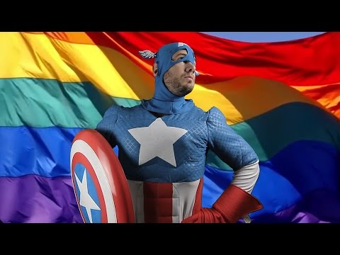 Captain America Goes SUPER GAY!!