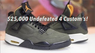 I Recreated the $25,000 Undefeated 4's with a pair of $350 Pair of Thunder 4's!