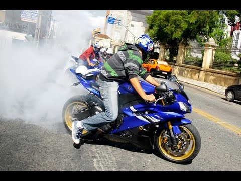 Yamaha R6 Burnout, CBR 1000RR vs. GSXF 650, CBR600RR, ZX14, ZX12 and more!