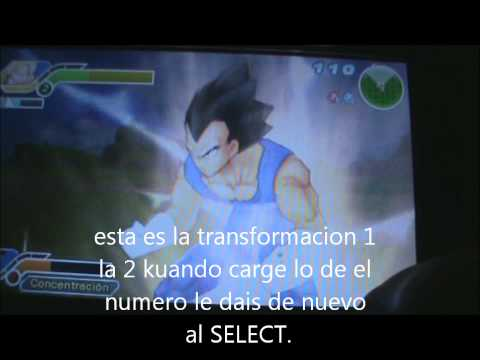Como transformarse en sayan en Dragon Ball Z Tenkaichi Tag Team Para PSP!