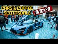 WHEN YOU'RE SURROUNDED BY EXOTIC CARS | Cars & Coffee Scottsdale Az | 10/03/20
