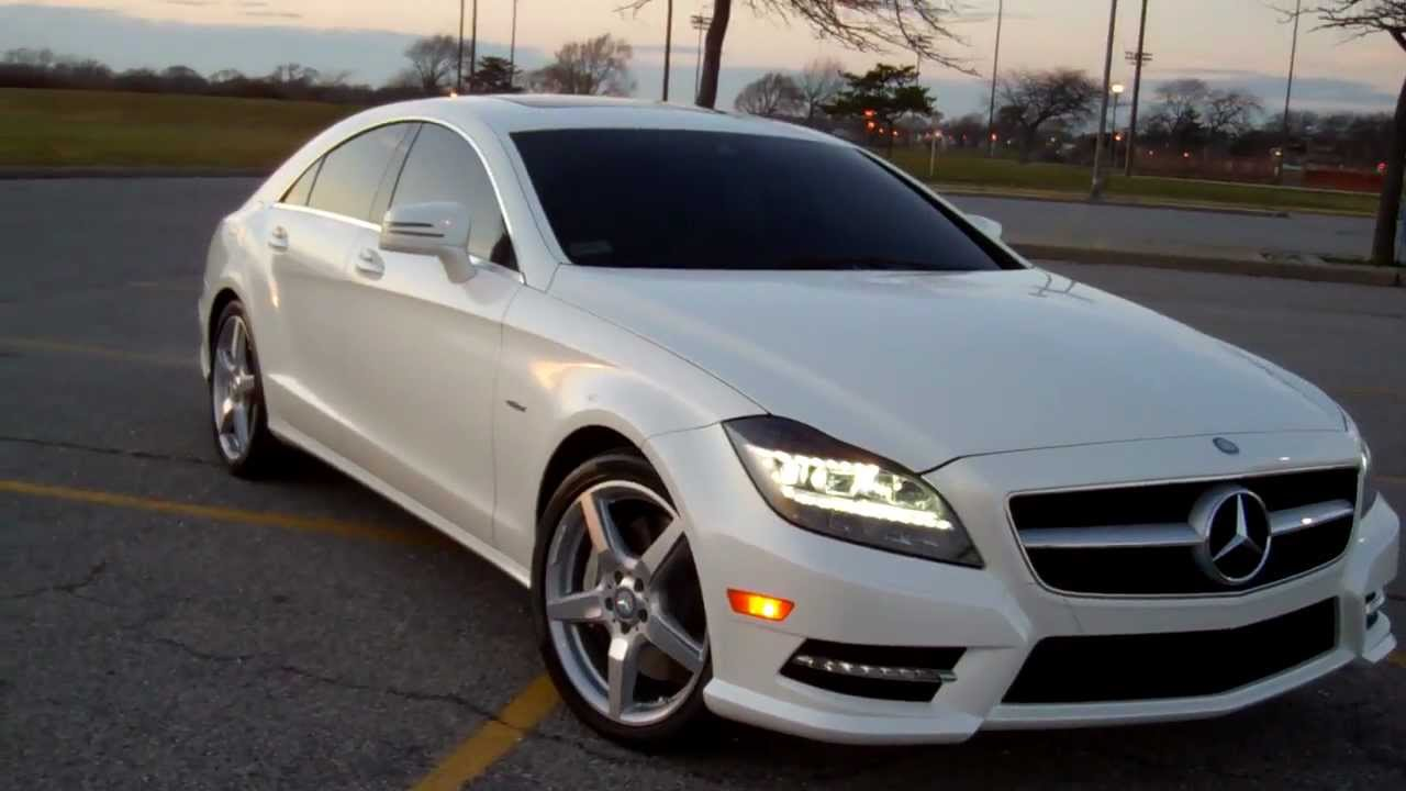 2012 mercedes benz cls550 4matic diamond white youtube. Black Bedroom Furniture Sets. Home Design Ideas