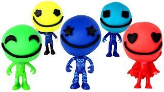 PJ Masks Surprise Toys & Play Doh Molds with Catboy Owlette Gekko Romeo Night Ninja Luna Girl
