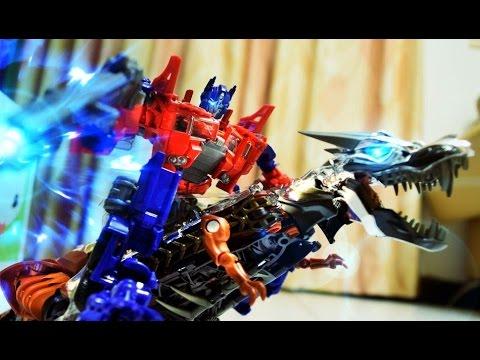 Transformers Stop Motion : Prime Vs Megatron 柯博文vs密卡登 video