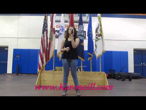 Karoneill National Anthem @ Stranahan High School 2013
