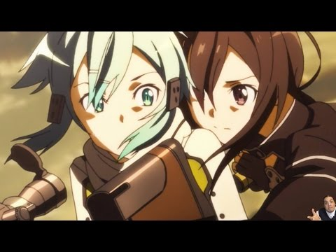 Sword Art Online 2 Episode 10 ソードアート・オンライン II Gun Gale Online Anime Review Kirito/Sinon Vs Death Gun