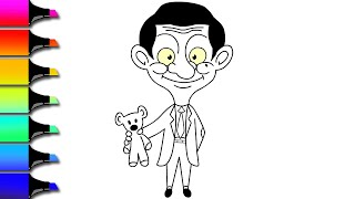 Mr BEAN ! Drawing & Colouring | Learn Funny Colouring For Kids And Toddlers | Itty Bitty Kids Arts