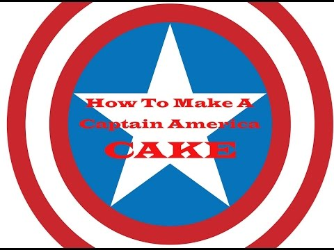 4th of July Captain America Cake! How to make an Epic Cheat Day!