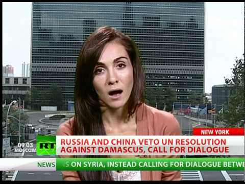 Russia & China veto UN resolution on sanctions against Syria