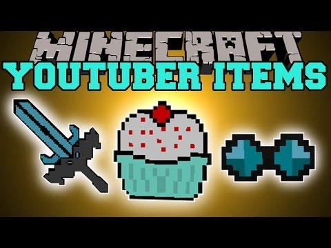Minecraft: Youtuber Items (thediamondminecart, Captainsparklez, Yogscast) Mod Showcase video