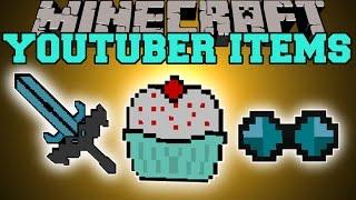 Minecraft YOUTUBER ITEMS THEDIAMONDMINECART, CAPTAINSPARKLEZ, YOGSCAST Mod Showcase