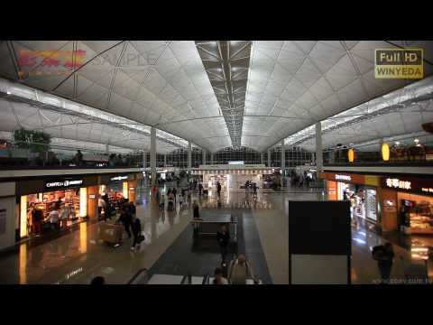 Full HD 1080p 香港 赤鱲角 機場 Chek Lap Kok International Airport 影片素材 W0023