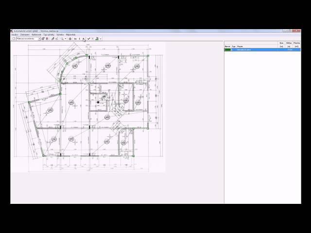 Ceník stavebních prací - funkce automatického určení výměr