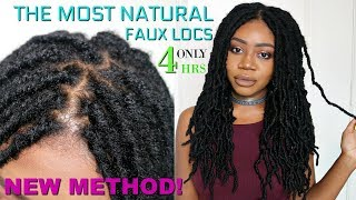 THE MOST NATURAL CROCHET LOCS INSTALL EVER! KNOTLESS METHOD - NO CORNROWS | FAST FAUX LOCS