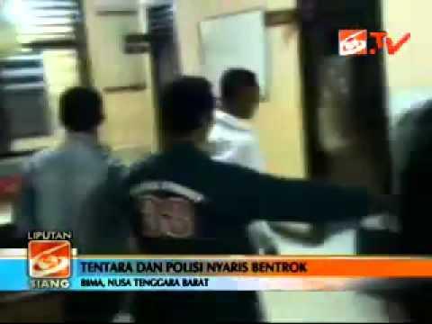 polisi dn TNI hampir bentrok