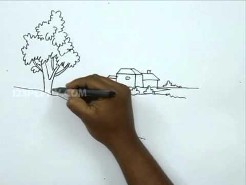 Видео как нарисовать красивую природу