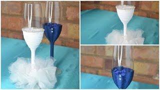 Toasting Glasses for wedding: DIY Tutorial