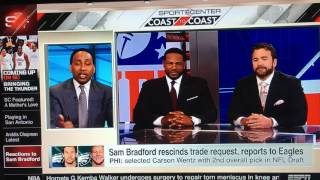 Stephen A Smith gets embarrassed by Jeff Saturday