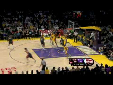 Los Angeles Lakers vs Cleveland Cavaliers ( LeBron 23 pts Kobe 20 pts ) January 19, 2009