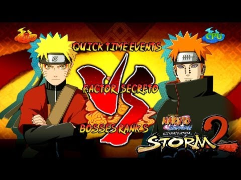 Naruto Ultimate Ninja Storm 2 1080p Final Boss 9 Pain Rank S | Naruto Sennin Vs Pain Factor Secreto