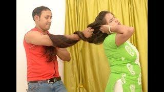 Hair Pulling By Man, Below Knee Length Thick Hair ( Drama Based )
