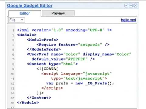 Gadgets Live Coding