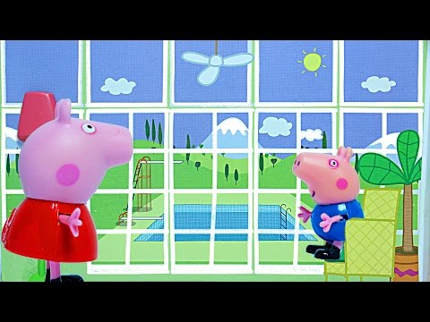 Свинка Пеппа Мультик Летняя вилла свинки Пепы Обзор игрушки
