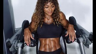 Black Female Fitness Motivation -- ABS CHECK