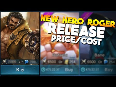 Roger Release Date! & Price/Cost Mobile Legends