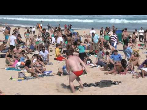 Bondi Beach Gets Flipped! Towel Surfing - Flip Video Flash Mob Video