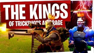 THE KINGS OF TRICKSHOTS & RAGE - Fortnite Funny Moments & Rage Moments