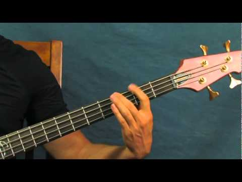 Beginner Bass Guitar Lesson Iron Man Black Sabbath Ozzy Osbourne video