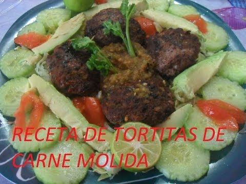 RECETA DE TORTITAS DE CARNE MOLIDA ( LOS ANGELES COCINAN )