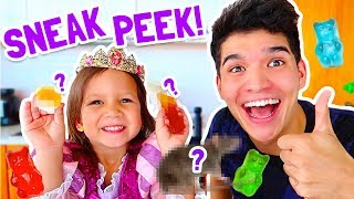 GUMMY vs. REAL FOOD ft PRINCESS GORGEOUS! (Sneak Peek)